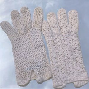 Accessories - Small Women's 50's Vintage Knitted Gloves